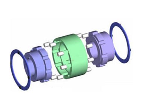 ZLD型圆锥形轴孔弹性柱销齿式联轴器